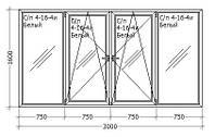 Остекление балконов  Rehau Euro 60