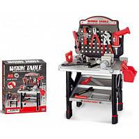 Детский игровой набор инструментов Work Table 16554B Черно-красный 50 придметов