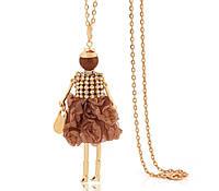 Кулон Куколка в шоколадном наряде