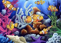 Схема для вышивки бисером Анемоновые рыбки КМР 3027