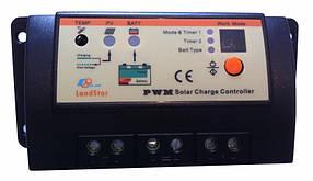 Контроллер заряда EPSolar LS1024R 12/24В 10А с 2 таймерами