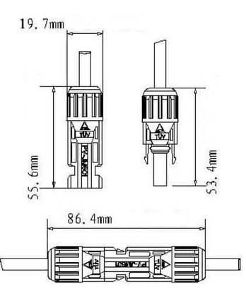Коннектор соединительный MC4 (пара), фото 2