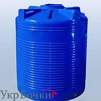 Емкость пластиковая для воды 1500 литров вертикальный бак, 2 слоя