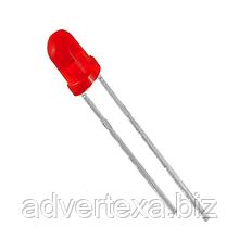 Світлодіод червоний 3 мм.