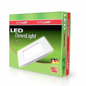 LED Светильник квадратный DownLight 4W 3000K, EUROLAMP, фото 2