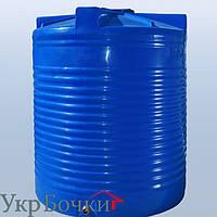 Емкость пластиковая для воды 5000 литров вертикальный бак, 2 слоя