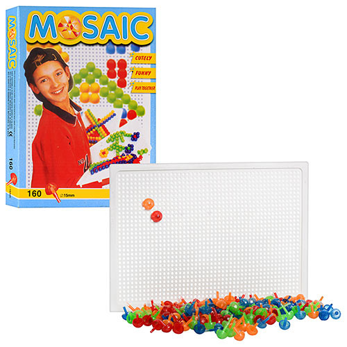 Мозаика JT 168-1   160 дет (круглые), 15мм, в кор-ке, 27-19-3см