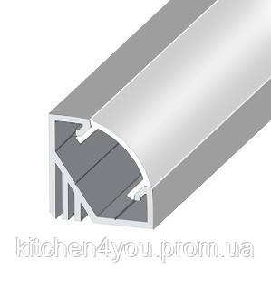 ЛПУ 17 алюминиевый углловой профиль для светодиодной ленты, накладной 17 х 17 мм.