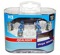 """Автомобильные галогенные лампы """"Realight"""" (H3)(Mega White)(12V)(55W), фото 1"""