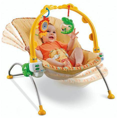"Детский шезлонг Fisher-Price 1760(W02-5358) ""Тропический лес"", фото 1"