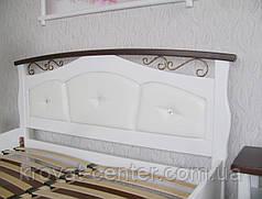 """Кровать белая """"Констанция"""". Массив - сосна, ольха, береза, дуб., фото 3"""
