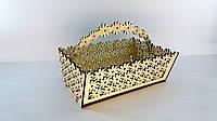 Деревянная заготовки для декора Корзинка Ромашка