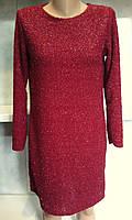 Женское нарядное платье с ниткой люрекс