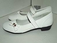 Белые школьные туфли для девочки , р. 35