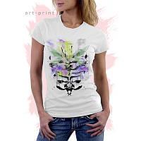 Модная женская футболка со скелетом, фото 1