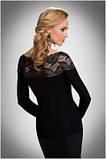 Блузка, кофточка женская черная с длинным рукавом Eldar HAIDI офисная деловая одежда , фото 2