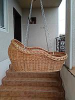 Плетеная корзина - люлька подвесная из лозы
