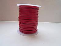 Кожаная тесьма 3 мм красная