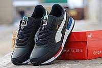 Мужские кроссовки Puma, пресс кожа, черно белые / кроссовки мужские Пума, стильные