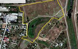 Выкопировка из Google площади объекта парк у озера