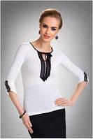 Блузка, кофточка женская черная с длинным рукавом Eldar TAYLOR офисная деловая одежда