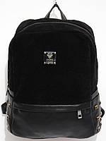 Рюкзак модный замшевый черный, фото 1
