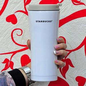 "Термос-кружка ""Smart Cup"" Starbucks 480мл. (Цвет: белый)"