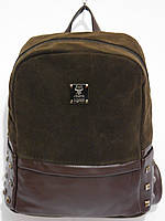 Рюкзак модный замшевый темный шоколад, фото 1