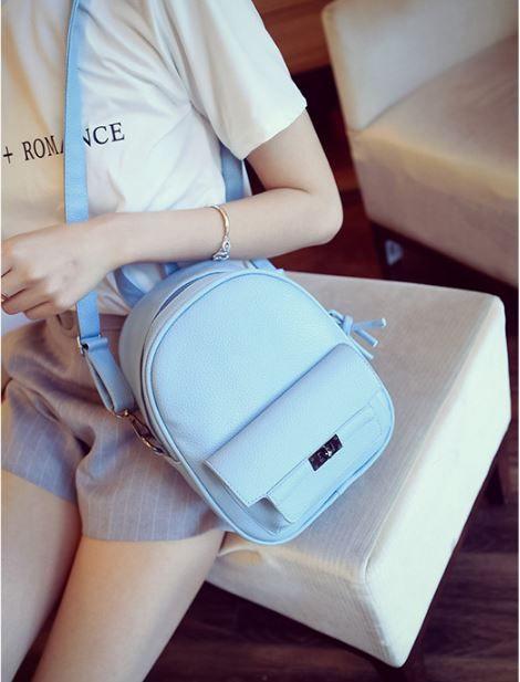 Мини рюкзак сумка в модных цветах
