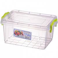 Контейнер пищевой пластиковый с крышкой Lux №4 1.5 л