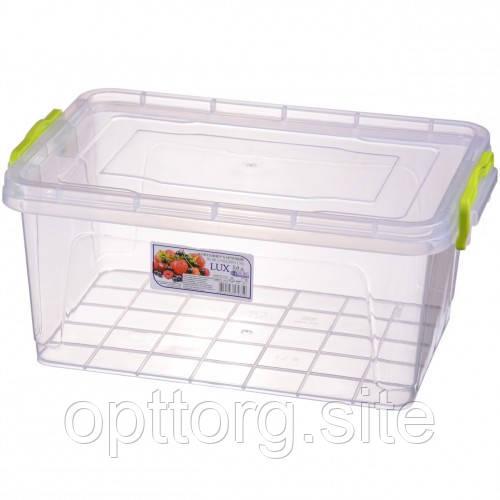 Контейнер пищевой пластиковый с крышкой Lux №6 5 л