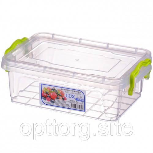 Контейнер пищевой пластиковый с крышкой Lux №3 1.2 л