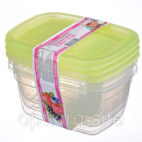 Контейнер пищевой Econom box 0.55 л -3шт