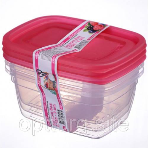 Контейнер пищевой Econom box 0.95 л -3шт