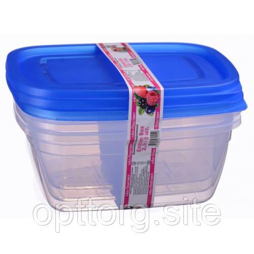 Контейнер пластиковый Econom box 2.5 л -3шт