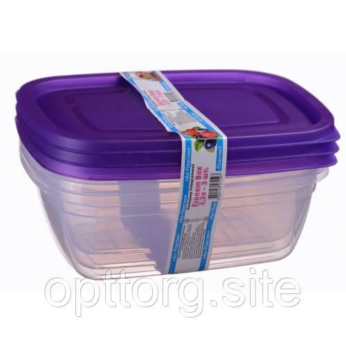 Контейнер пищевой Econom box 2.2 л -3шт