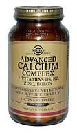 Солгар, Расширенный Комплекс Кальций + Витамины D3, К2, Цинк, Бор, 120таблеток