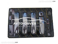 Накладки на ручки дверей Audi A6 2004-2011 (под чип/под ключ)