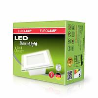 EUROLAMP LED Светильник квадратный Downlight 6W 4000K(СТЕКЛО)