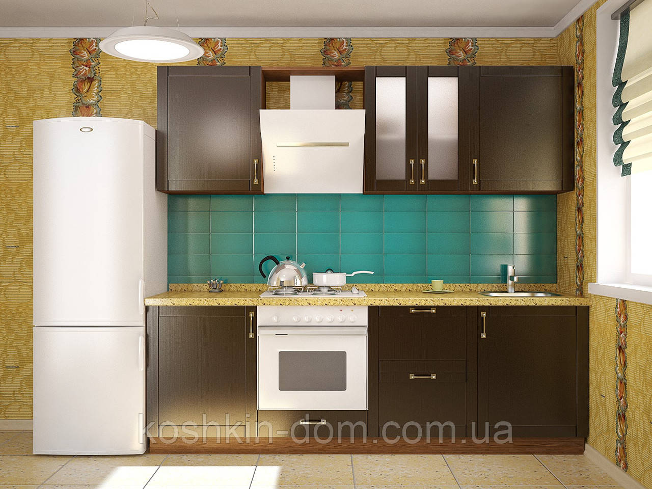 Кухня модульная Рома MDF 2400 мм