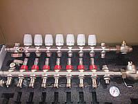 Коллектор SD FORTE для теплого пола в сборе на 10 контуров