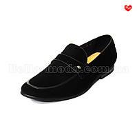 Чёрные замшевые туфли Cosottinni мужские