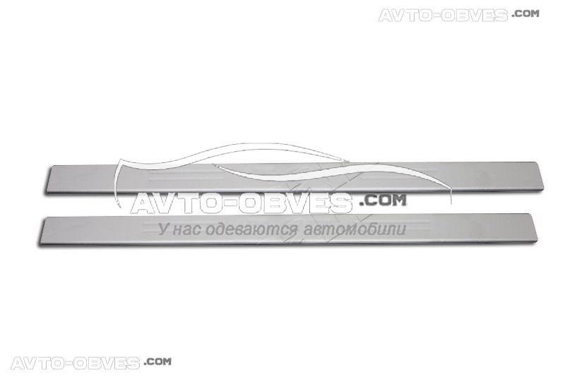 Накладки на дверные пороги салона Peugeot 307, 2 шт