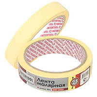 Лента малярная 25мм; 20м; желтая INTERTOOL DM-2520
