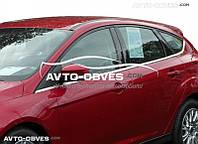 Окантовка окон внешняя для Ford Focus H/B. 8 шт