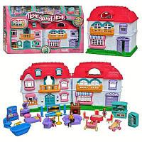 """Домик 22002, """"Home Sweet Home"""", жители, мебель, свет, звук, на батарейках, подарок ребенку для игр, в коробке"""