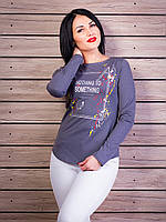 Повседневный свитер с надписью