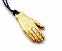 """Амулет """"Щаслива долоня призначення"""", В комплекті шнурок довжиною 70 см, бронза, метал"""