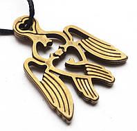 """Амулет """"Серафім"""" Амулет на шею серафим , шнурок 70 см, бронза, Серафим"""