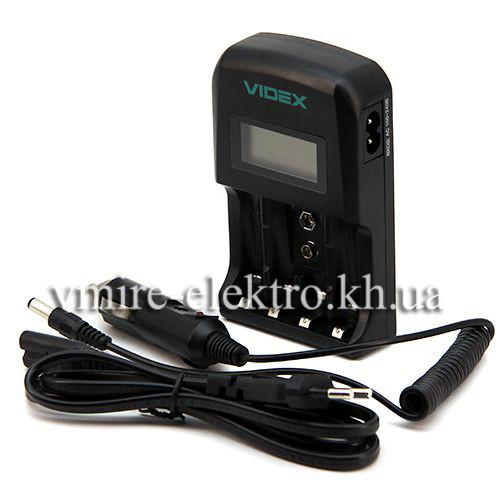 Зарядний пристрій Videx VCH-ND400 4х АА/ААА 1х крона 9V